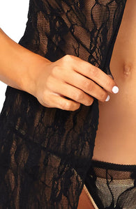 Black lace chemise - Let's Stay