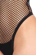 Load image into Gallery viewer, Black fishnet teddy - Side Boob