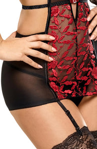 Black and red bustier - Angelina