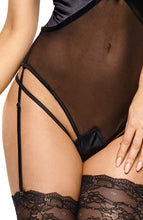 Load image into Gallery viewer, Black bodysuit with suspenders - Laurienne