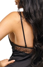 Load image into Gallery viewer, Black satin chemise - Sandra