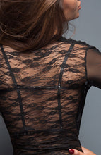 Load image into Gallery viewer, Black transparent lace dress - Black Flirt