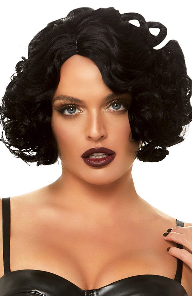 Black curly bob wig