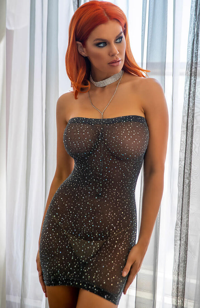 Rhinestone tube dress - On Another Level