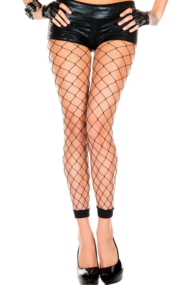 Black diamond net leggings