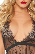 Load image into Gallery viewer, Black chemise - Dotted Doll