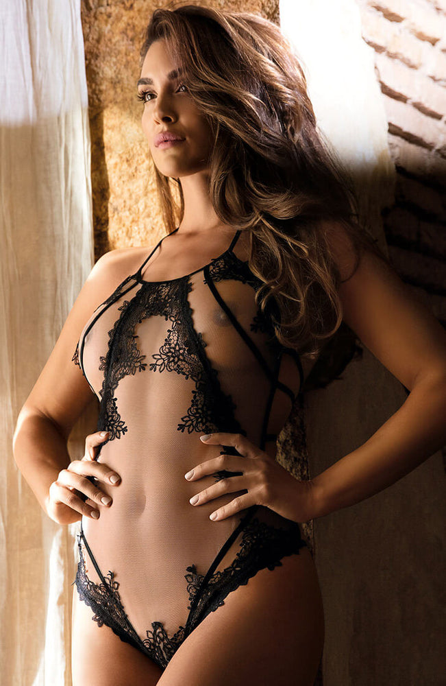 EXPOSE - See-through crotchless bodysuit