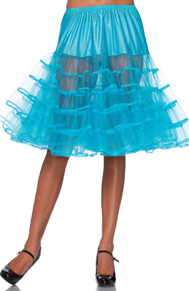 Turquoise blue knee length petticoat