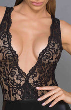 Load image into Gallery viewer, Wet look and lace dress - Sultry Saturday
