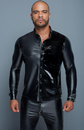 Wet look & PVC shirt - The Master