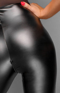 Wet look catsuit with choker - Ladylike