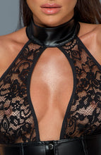 Load image into Gallery viewer, Lace & wet look dress - Hit 'Em Up Style