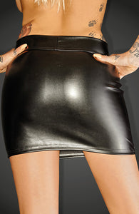 Wet look mini skirt - Mini Magic