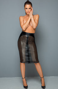 Lacercut wet look pencil skirt - I Have Style