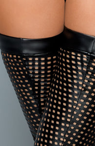 Lacercut wet look thigh highs - BAD!