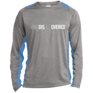 (un)disc2overed Logo  Long Sleeve Heather Colorblock Poly T-Shirt