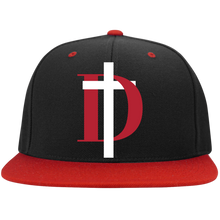 Load image into Gallery viewer, D Logo Flat Bill High-Profile Snapback Hat