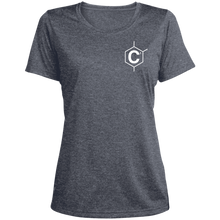 Load image into Gallery viewer, Hexa Logo  Ladies' Heather Dri-Fit Moisture-Wicking T-Shirt