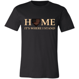 Home Is Where I Stand Jersey Short-Sleeve T-Shirt