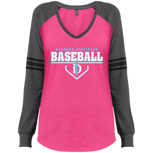 Plate Logo Ladies' Game LS V-Neck T-Shirt