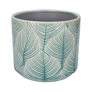 Medium Leaf Pot, Aqua