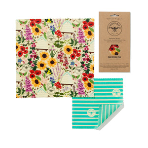 Beeswax Wraps, Small Kitchen Pack