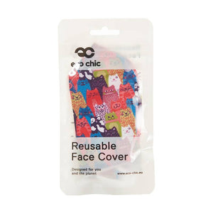 Colourful cats face covering