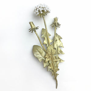 Michael Michaud Dandelion Brooch with real pearls