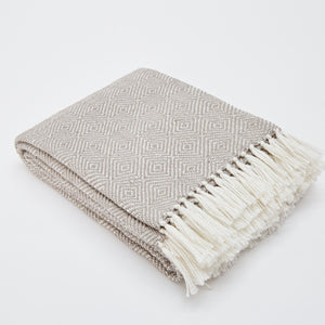 Recycled Diamond Blanket, Chinchilla Grey