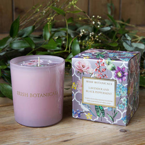 Lavender and peppermint candle