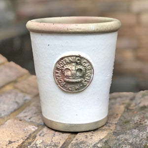 Small flower pot in Ivory