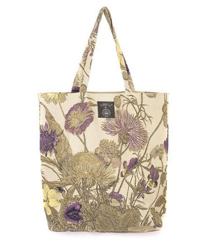 Extra Large Tote Bag - Purple Thistle Design