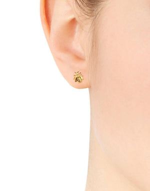 Alex Monroe Little Bee Gold Stud Earrings