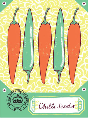 Alice Pattullo Kew Chilli Seeds Packet