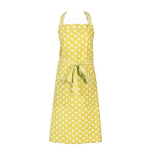 Yellow Bee print apron