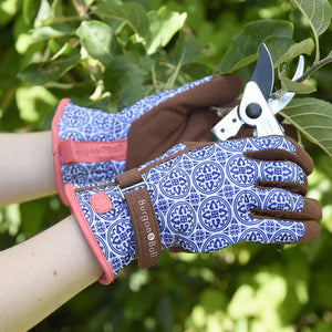 Love The Glove - Artisan Blue and White Gardening Gloves