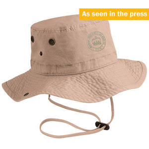 Kew Gardening Hat in Neutral Beige Colour with Kew Roundel Logo