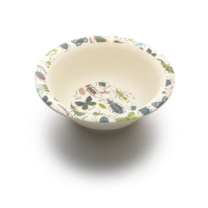 Children's Bamboo Bowl with Bugs Print