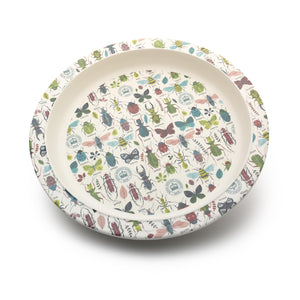 Children's Bamboo Plate with Bugs Print