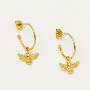 Estella Bartlett Bee Hoop Earrings