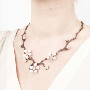 Michael Michaud cherry blossom necklace