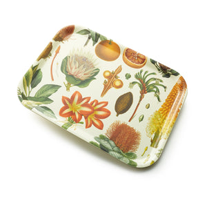 Handmade Botanical Small Tray in Floral Pattern