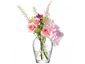 Small glass vase for bouquets