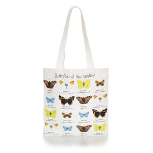 Cotton Tote Bag with Butterflies of Kew Design