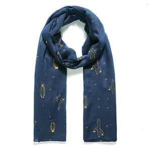 Navy cactus scarf