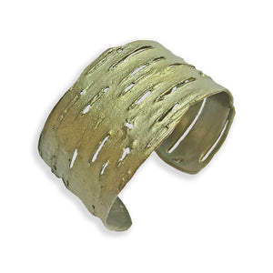 Michael Michaud Bronze Birch Bark Cuff