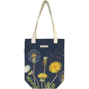 Cotton Tote Bag with Dandelion Design