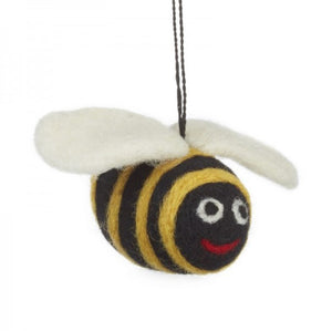 Felted Bumble Bee Hanging Decoration