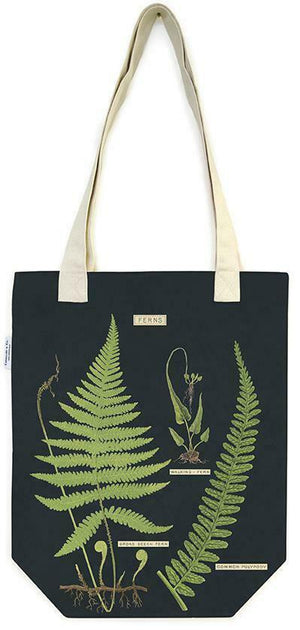 Cotton Tote Bag with Fern Design