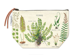 Cotton cosmetic bag in fern print